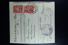 Latvia:  Money Order 1930 Lubahn Varaklani - Lettland