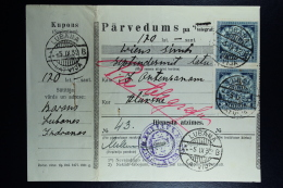 Latvia: Money Order 1932 Lubahn Aluksne - Lettland