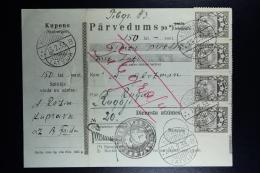 Latvia: Money Order 1933 Kuprava - Lettland