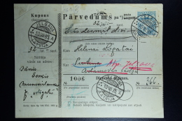 Latvia:  Money Order 1935 Mitau Jelgava Indra Pustina - Lettland