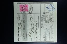 Latvia:  Money Order 1935 Rositten Silajani Antonopole - Lettland