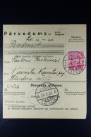 Latvia:  Money Order 1935 Wenden Kaunata - Lettland