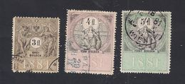 3 Austria Revenue 3, 4 + 5 Fl. 1881 - Fiscali