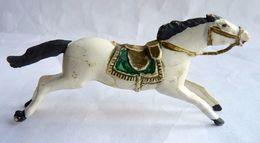 Figurine CYRNOS Far West INDIEN CHEVAL Blanc Type 2 50's Pas Starlux Clairet (2) - Starlux