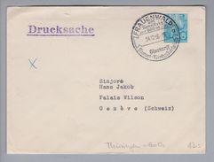 Heimat DE Th Frauenwald 1956-12-24 K-O Drucksache Nach Genève - Lettres & Documents