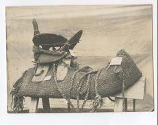 Rare Photo D'une Selle D'un Officier Méhariste Vers 1900 11 X 8 Cm - Documents