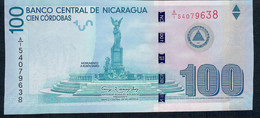 P208 100 Cordobas 2012 Commemorative 100 Years Cordoba Unc. - Nicaragua