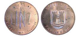 00346 GETTONE TOKEN JETON FICHA PARCHEGGIO PARKING PARKMUNZE MUNICIPAL LINZ CITY - Allemagne