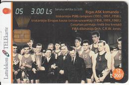 LATVIA - Basketball 5, Tirage 35000, 10/00, Used - Latvia