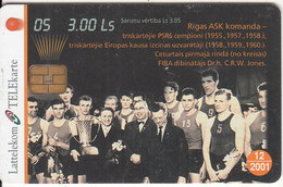 LATVIA - Basketball 5, Tirage 35000, 10/00, Used - Lettonia