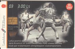 LATVIA - Basketball 3, Tirage 35000, 03/00, Used - Latvia