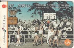 LATVIA - Basketball 2, Tirage 35000, 01/00, Used - Latvia
