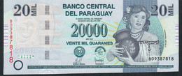 P230a 20.000 = 20000 Guaranies 2007 B Unc.. - Paraguay