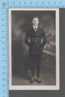 Carte Postale Photo - Homme  , Photographe: Melcom Studio, 366 Merrimak St. Lowell Mass. USA - Photographie