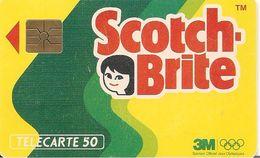CARTE°-PUBLIC-F225c-50U-GE   M1B-01/92-18000ex-SCTOCH  BRITE-V°3 N° GRAS-B1B28D-S/2 E Logo-UTILISE-BE--RARE- - France