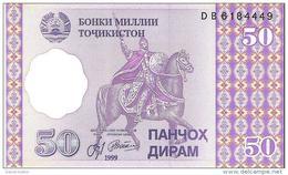 Tajikistan - Pick 13 - 50 Diram 1999 - Unc - Tagikistan