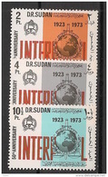 Soudan - 1974 - N°Yv. 263 à 265 - Interpol - Neuf Luxe ** / MNH / Postfrisch - Soudan (1954-...)