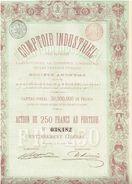 Action Ancienne - Comptoir Industriel Pour Favoriser L'Agriculture, Le Commerce, L'Industrie Et Les Travaux Publics - Banque & Assurance