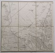 MAPPA INTELATA _ ROVERBELLA (Mantova) _ Scala 1 : 21,600 _ MOLTO BEN CONSERVATA - Carte Topografiche