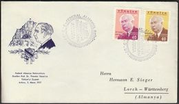 Turkey Ankara 1957 / Visit By The German President Theodor Heuss, Politician / FDC - Celebrità