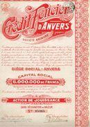 Action Ancienne - Crédit Foncier D' Anvers - Titre De 1921 - Banca & Assicurazione
