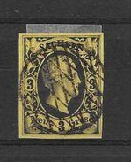 SACHSEN SAXONY SAXE FREDERIC AUGUSTE II NOIR SUR COULEUR YVERT NR. 5 OBLITERE TRES BON ETAT AN 1851 - Saxony