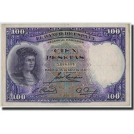 Espagne, 100 Pesetas, 1931, KM:83, 1931-04-25, TB+ - [ 2] 1931-1936 : Repubblica