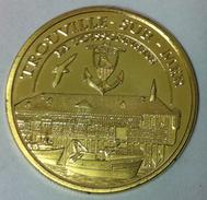 14 TROUVILLE SUR MER LA POISSONNERIE MÉDAILLE SOUVENIR & PATRIMOINE TOKEN JETON MEDALS COINS PAS MONNAIE DE PARIS - Tourist