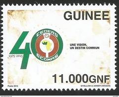 Guinee Guinea 2015 40th Anniversary ECOWAS CEDEAO Mint MNH - Guinee (1958-...)