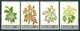 1971 Malawi Fiori Flores Fleurs Alberi Trees Arbres Set MNH** Fio169 - Vegetazione