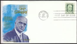 USA United States San Mateo 1973 / Amadeo Peter Giannini / Bank Of America Founder / FDC - 1971-1980