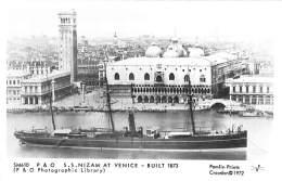 BATEAUX DE COMMERCE Merchant Ship : S.S. NIZAM At VENICE - CPSM Photo PF 1972 - Bateau Cargo Tanker - Handel