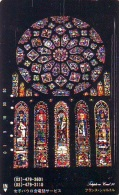 Télécarte  Japon * EGLISE * CHURCH * ART * KUNST (40)  * RELIGION VITRAIL * STAINED GLASS JAPAN PHONECARD - Malerei