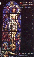 Télécarte  Japon * EGLISE * CHURCH * ART * KUNST (44) St. IGNATIUS  * RELIGION VITRAIL * STAINED GLASS JAPAN PHONECARD - Pintura