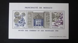 1996 Monaco Bloc N°73 Musée Des Timbres Neuf** TTB, 2,50 € (cote 10,25 € Faciale 3,05 €) - Blocs