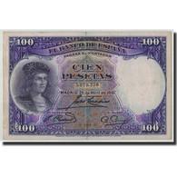 Espagne, 100 Pesetas, 1931, KM:83, 1931-04-25, TB - [ 2] 1931-1936 : Repubblica