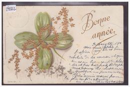 BONNE ANNEE - MILLESIME 1901 - CARTE EN RELIEF - PRÄGE KARTE - TB - New Year