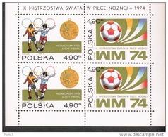 Polen Block 59 Fußball Weltmeisterschaft ** Postfrisch MNH Neuf - Blocks & Sheetlets & Panes