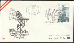 Austria Bregenz 1959 / Richtfunk Antenne / Multipoint Radio TV Antenna / Zugspitze / FDC - FDC