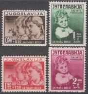 Yugoslavia Kingdom 1938 Mi#366-369 Mint Never Hinged - Unused Stamps