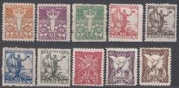 Yugoslavia Kingdom SHS, Sailors Issue For Croatia 1919 Mi#88-97 Mint Hinged - Neufs