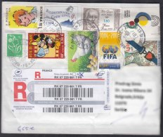France 2017 Cover Travelled To Serbia - Cartas
