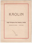 Advertising * Kaolin * Anglo Portuguese Clay Company, Limited * Senhora Da Hora * Portugal * 1929 * French Text - Advertising
