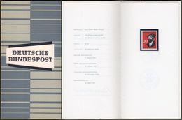 """Bund : Minister Card - Ministerkarte Typ III, Mi-Nr. 439 ** U. ESST : """" Reformierter Weltbund - Johannes Calvin """" R !  X - BRD"""