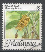 Malaysia 1986. Scott #334 (U) Musa Sapientum, Fruits * - Malaysia (1964-...)