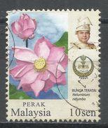 Malaysia, Perak 2007. Scott #169 (U) Flower, Nelumbium Nelumbo & Sultan Azla Shah * - Malaysia (1964-...)