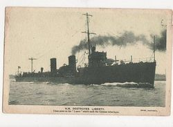 HM Destroyer Liberty Singer Sewing Machines 1915 Advert Postcard 493a - Guerre