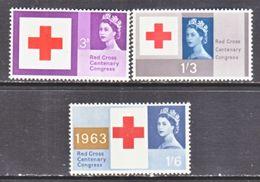 GREAT  BRITAIN  398-400    **   RED  CROSS - Red Cross