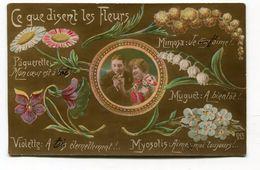 CPA  Fantaisie : Langage Des Fleurs  1916   A   VOIR   !!! - Autres