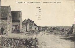 7709  CPA Vesles Et Caumont - Rue Principale - Les Ruines - France